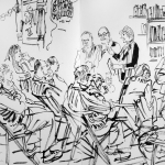 Sketch at the Albion Beatnik