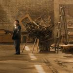 Ai Weiwei in his studio. Photograph © Harry PearcePentagram 2015