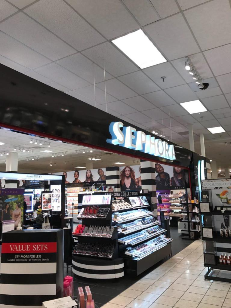 farmacy skincare review skincare superfoods - BEAUTY: Skincare Superfoods Makeover + Farmacy Beauty Skincare Review featured by popular San Francisco beauty blogger, Sylvie in the Skye | image of Sephora makeup store sign and makeup kiosks.