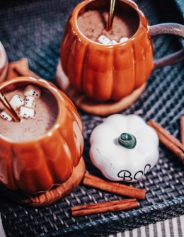 Halloween Hot Chocolate aka Pumpkin Spice Moon Milk Recipe featured by top US lifestyle blogger, Sylvie in the Sky: