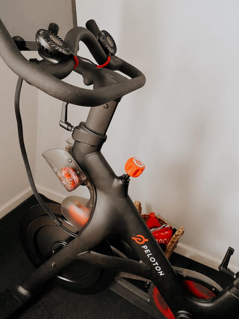 Peloton Bike by popular San Francisco lifestyle blog, Sylvie in the Sky: image of a Peloton bike.