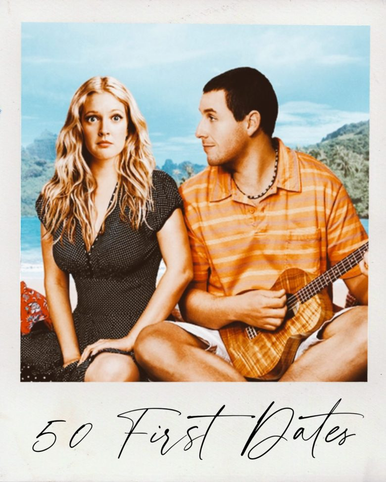 Valentine's Day Movies by popular San Francisco lifestyle blog, Sylvie in the Sky: image of 50 First Dates movie still.
