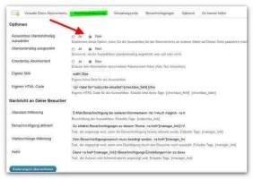 Kommentarformular: Standardeinstellung deaktivieren