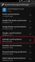 Synchronisation im Smartphone aktivieren