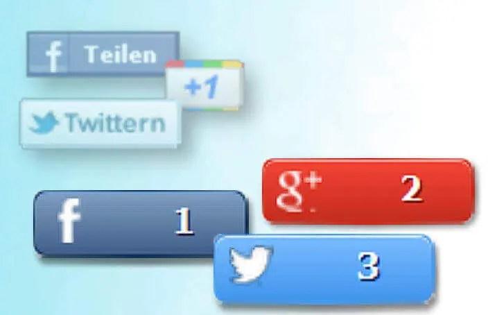 Socialmediabuttons - alt und neu