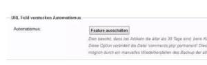 Funktion Webseiten-Url verstecken