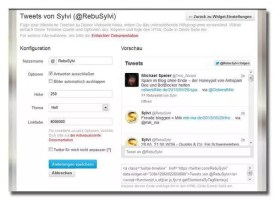 Twitter Widget konfigurieren