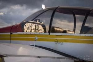 Cockpit in der Abendsonne