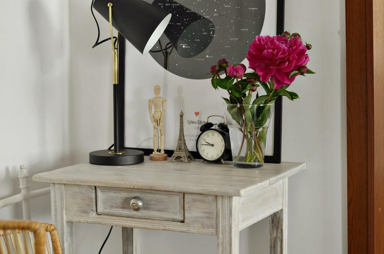 mini biuro w salonie