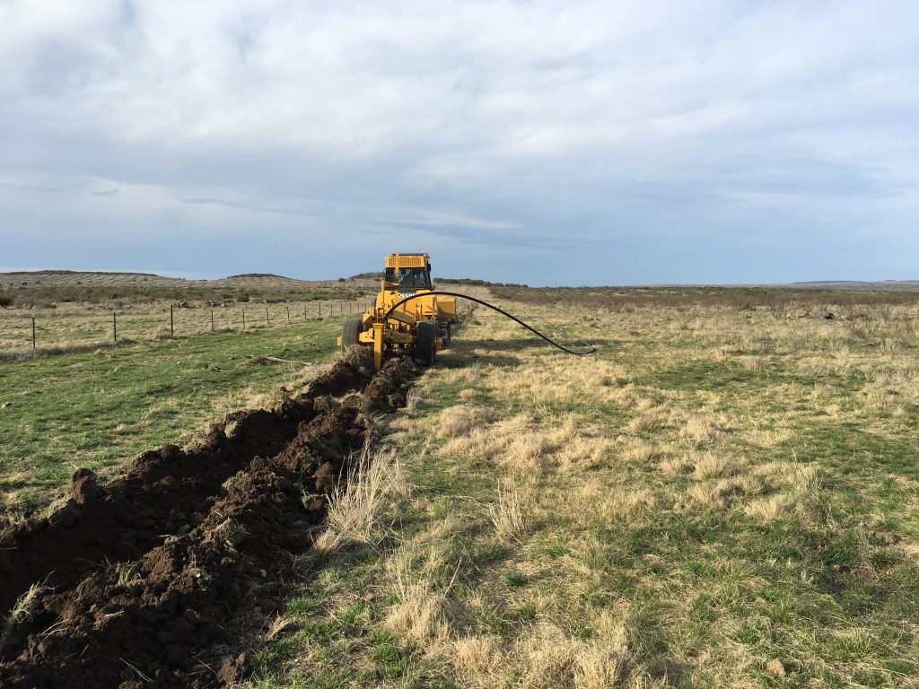 HDPE Poly Pipe Installation - San Angelo, TX