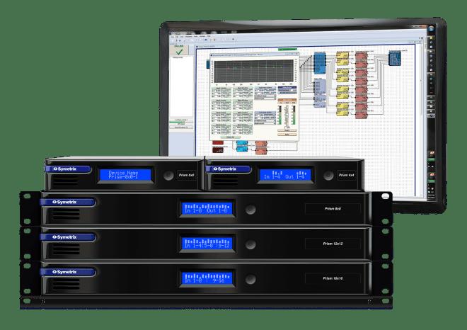 Symetrix Prism DSPs with Composer software