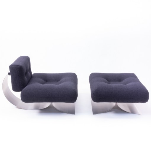 Lounge Chair And Ottoman By Oscar Niemeyer 1970s
