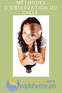 symptothermie méthode observation cycle