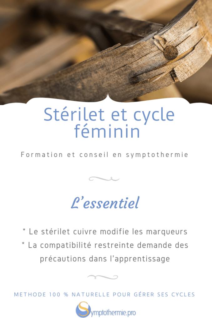 stérilet et cycle féminin