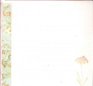 Floral farewell envelope