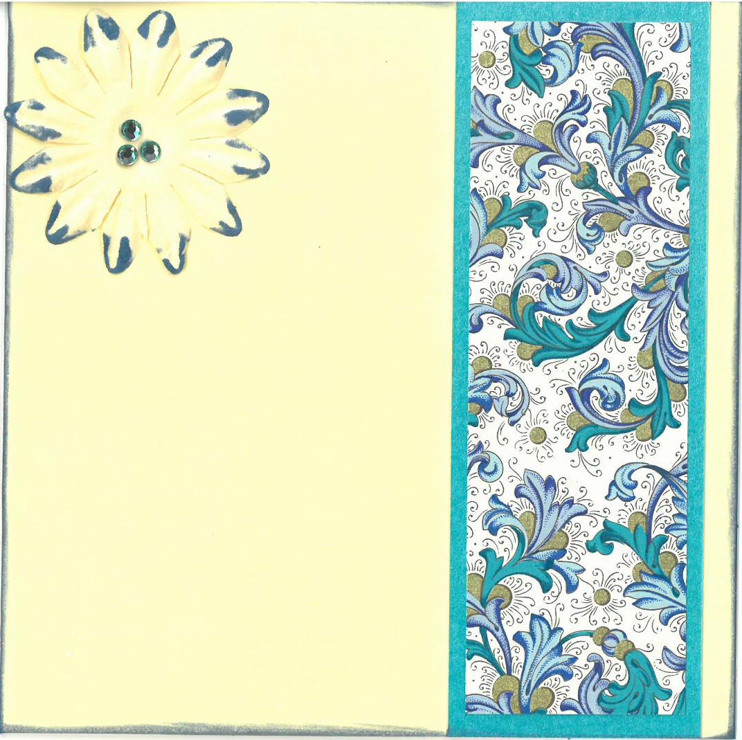 Floral farewell card
