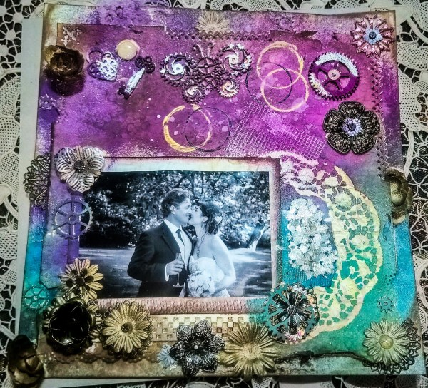 Floral wedding – mixed media piece
