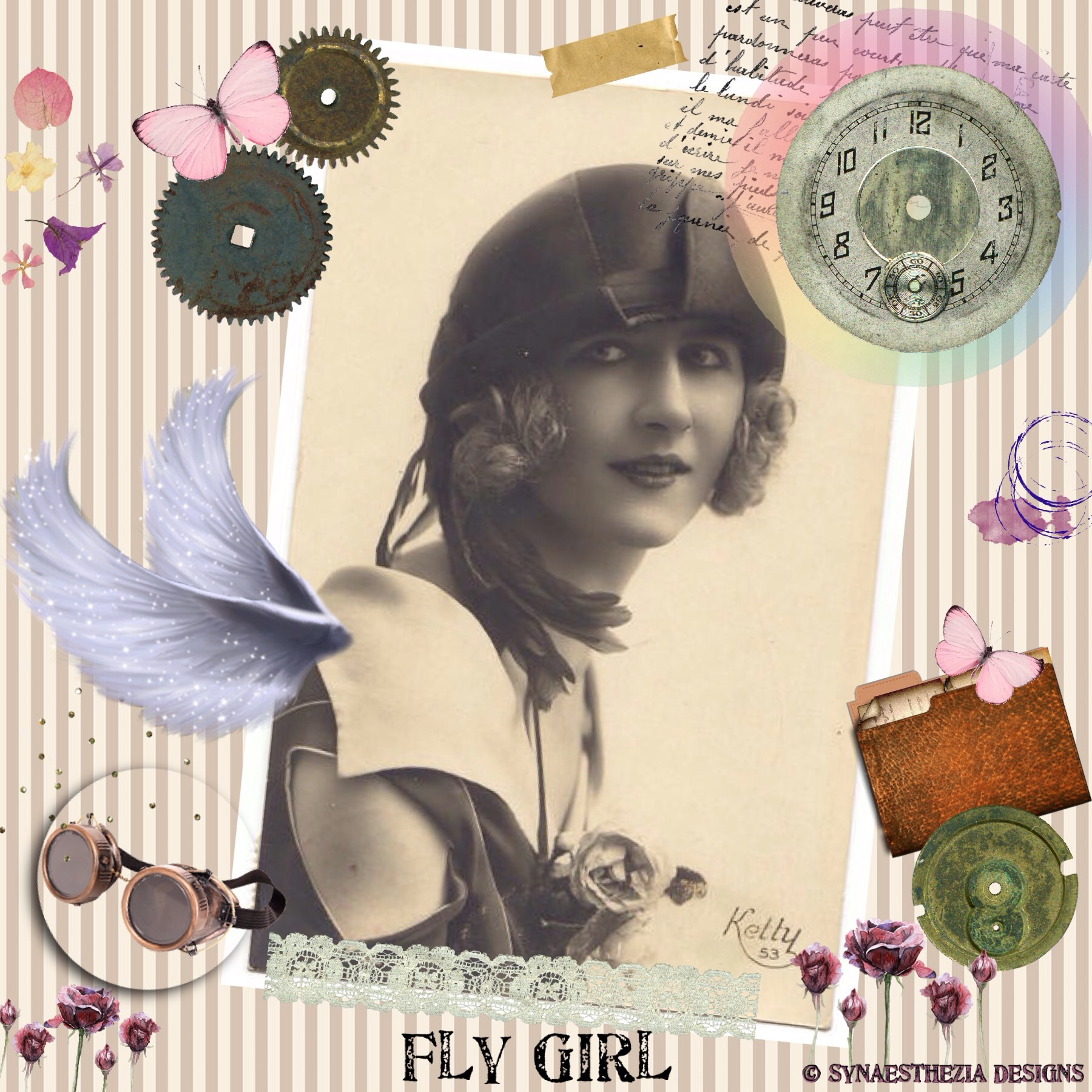 Steampunk Fly Girl