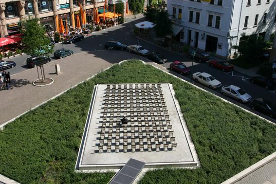 Gedenkstätte am Ort der großen Gemeindesynagoge, Gottschedstraße
