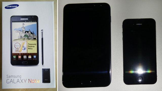 Galaxy Note im Vergleich zum iPhone 4