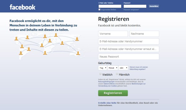 Bei Facebook registrieren ohne die Handynummer anzugeben