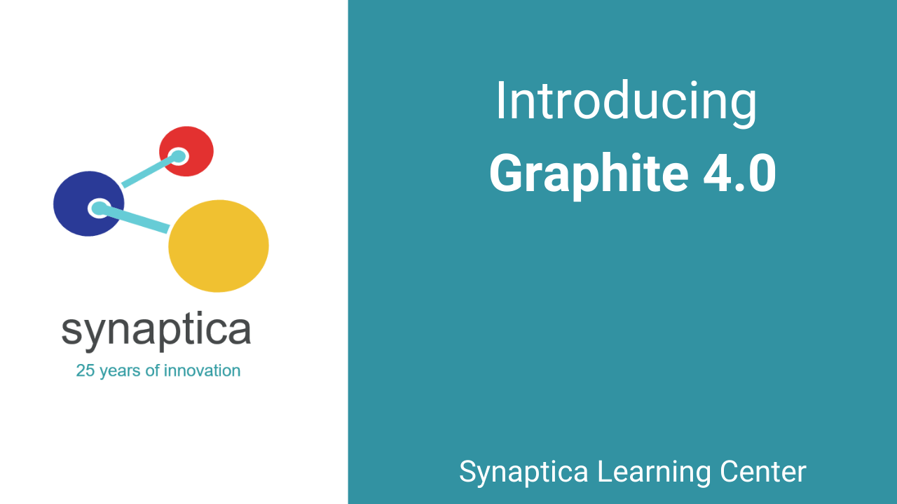 Introducing Graphite 4.0 text, image of Synaptica logo
