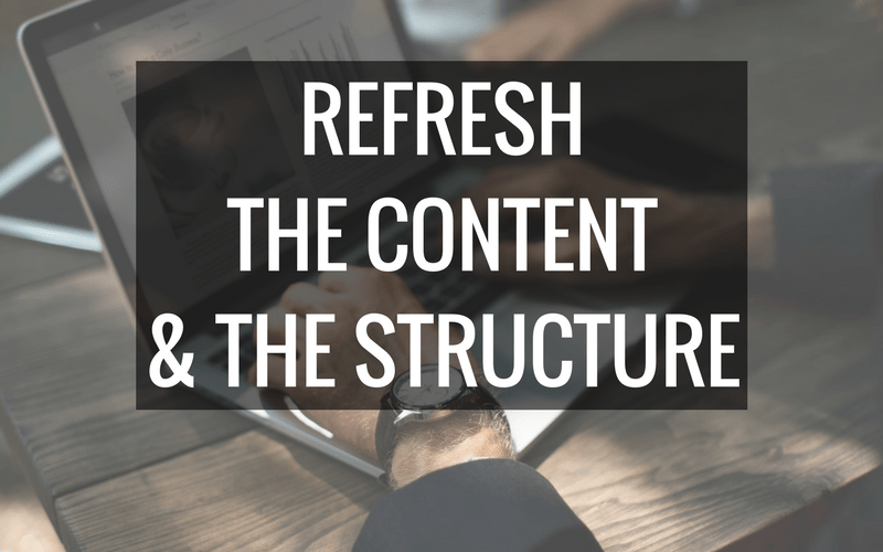 Refresh your content