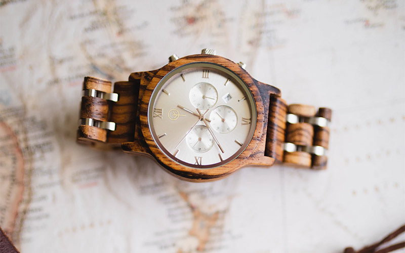 wooden watch and smartwatch