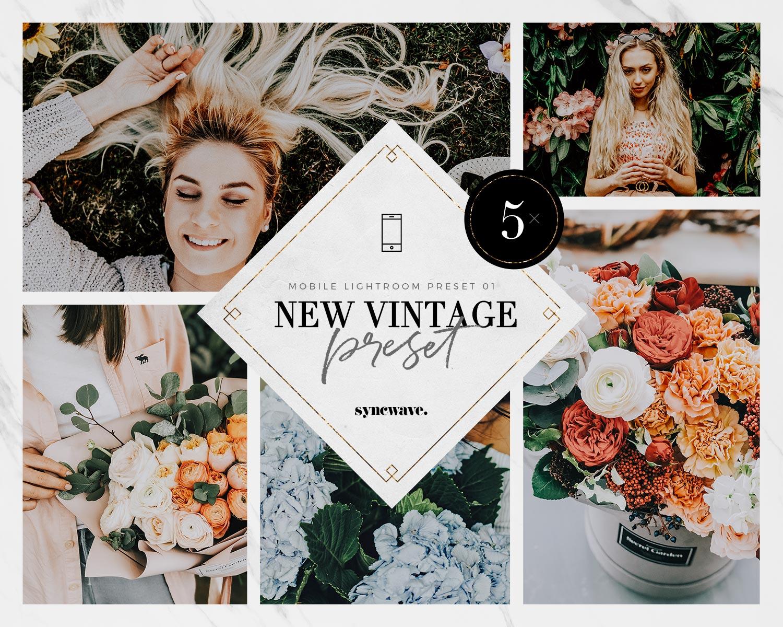 New Vintage Mobile Preset for Adobe Lightroom | SYNCWAVE ...