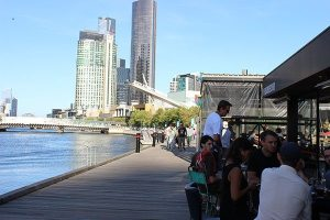 Riverside dining at South Warf Melbourne
