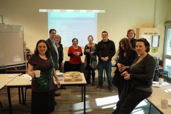 Alex with board, staff, teachers, students and volunteers of North Melbourne Language and Learning