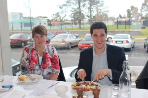 Alex Makin at the mentor breakfast in Horsham