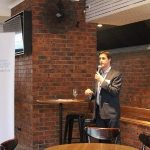 Alex welcoming guests and members to the Australian Marketing Institute's End of Year Networking Event