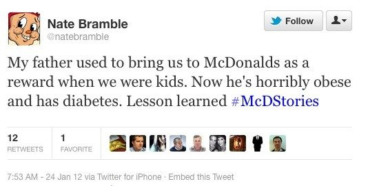 Commentary through the McDStories campaign - back in 2012