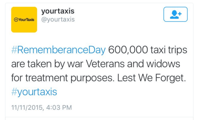 Asking the wrong question twice: The YourTaxis Tweet on remembrance Day