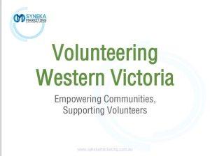 Volunteering Western Victoria