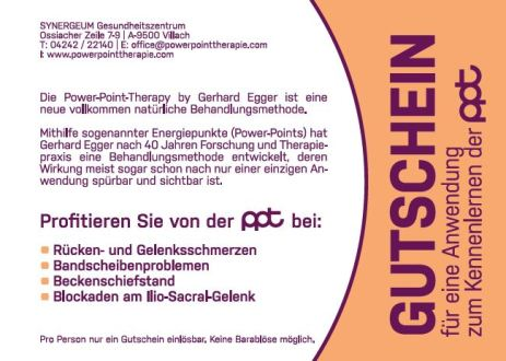 Gutschein für eine Power Point Therapie
