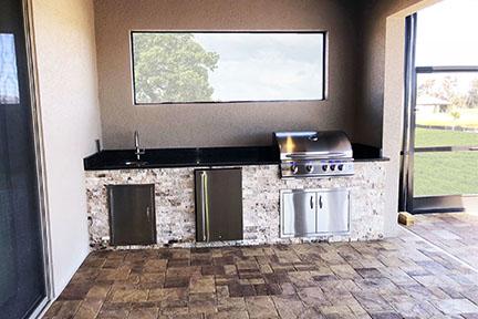 Travertine Outdoor Kitchen - Synergy Outdoor Living on Synergy Outdoor Living id=70749