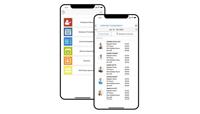 Synerion time and attendance software mobile