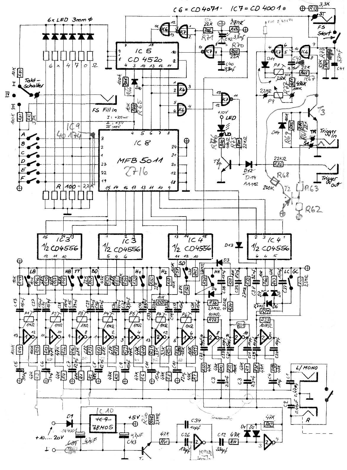 Synthesizer Service Manuals