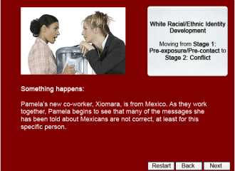 Something happens to Pamela