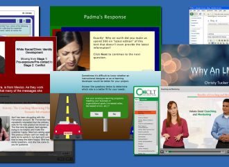 collage of elearning examples