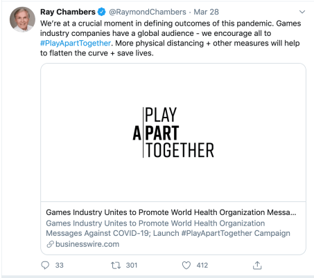 playaparttogether-video-games-ray-chambers-tweet