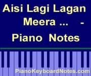Aisi Lagi Lagan, Meera Ho Gayi Magan - Piano Notes