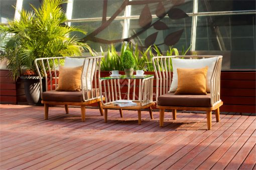Anjani Outdoor Rattan Furniture Terrace Set