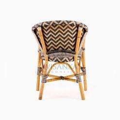Dean Dining Arm Rattan Bistro Chair Rear