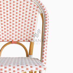 Farah Dining Arm Wicker Bistro Chair detail