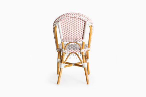 Farah Dining Arm Wicker Bistro Chair rear