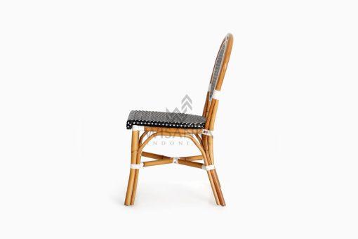 Iry Dining Arm Wicker Bistro Chair side