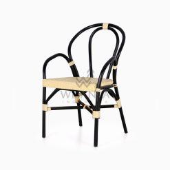 Viana Rattan Wicker Bistro Chair perspective